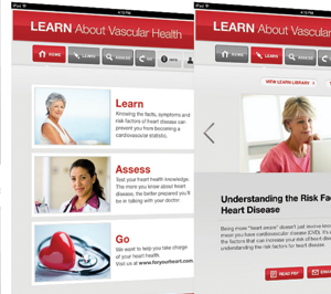 Womens' Heart Health iPad app