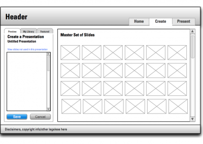 Abbott Presentation Builder AIR app Wireframes